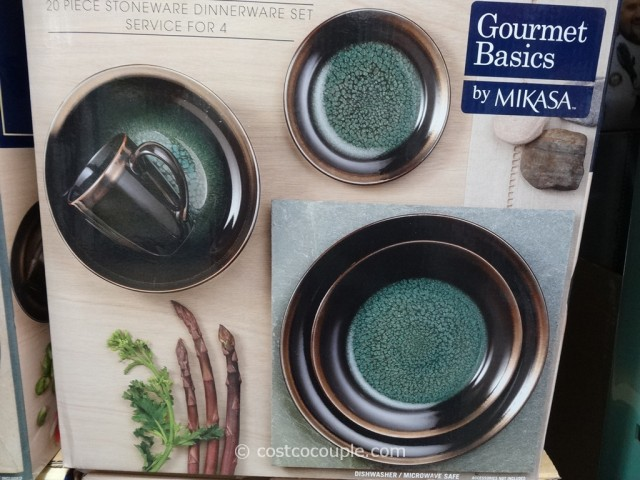 Mikasa Gourmet Basics Crescent Collection Dinnerware Set Costco 3 ... & Mikasa Gourmet Basics Crescent Collection Dinnerware Set