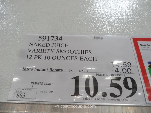 Naked Juice Variety Smoothies Costco 1