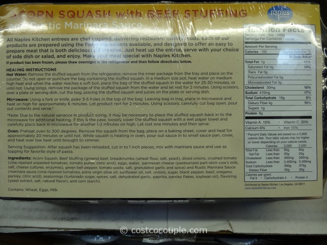 Naples Kitchen Acorn Squash With Beef Stuffing Costco 2