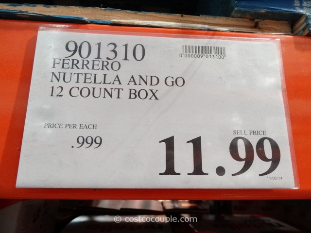 Nutella and Go Pack Costco 4