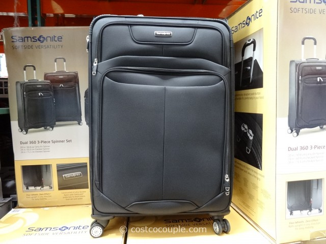 Samsonite 3-Piece Softside Spinner Set Costco 2
