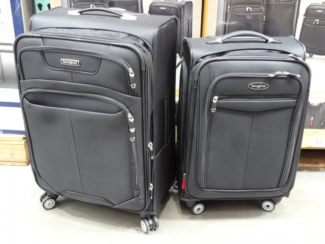 Samsonite 3-Piece Softside Spinner Set Costco 3