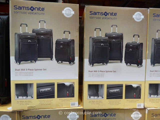 Samsonite 3-Piece Softside Spinner Set Costco 4