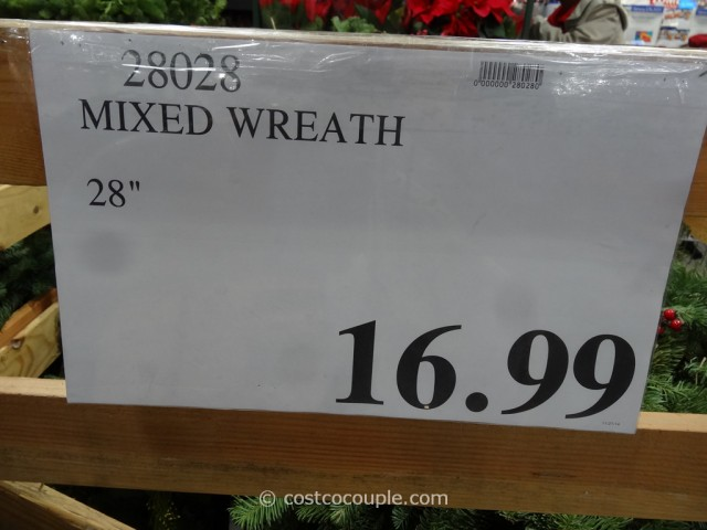 28-Inch Fresh Mixed Wreath Costco 1