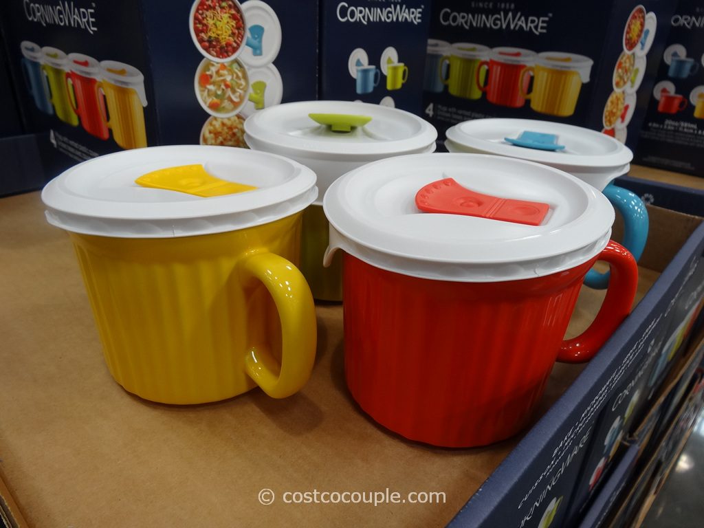 Corningware Mugs With Vented Lids Costco 4