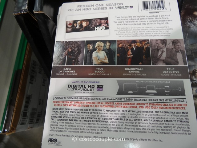 HBO Series Digital HD Costco 3