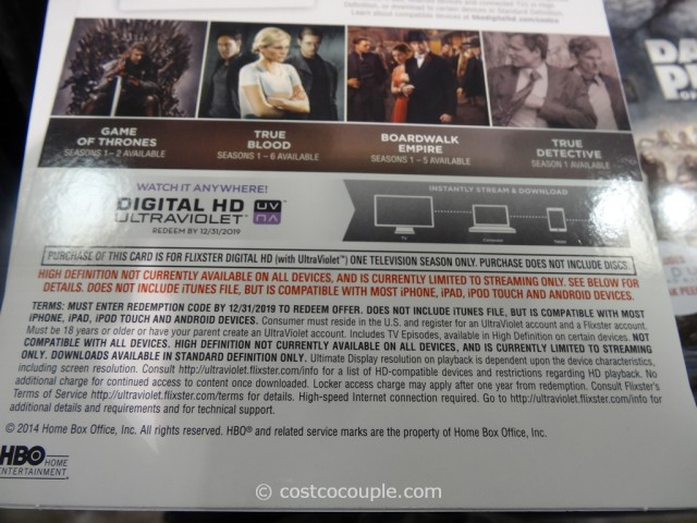 HBO Series Digital HD Costco 4