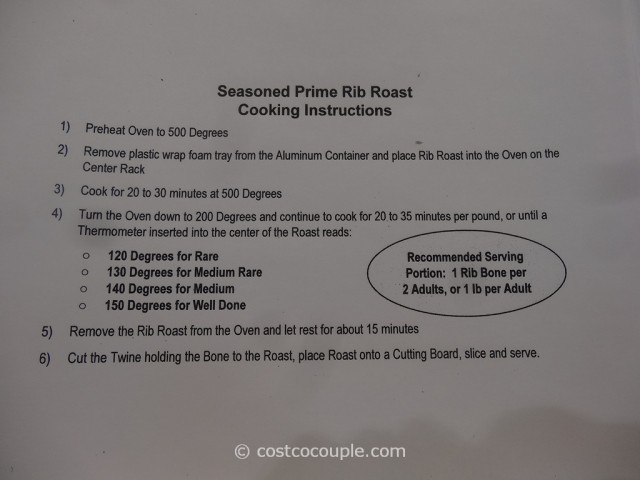 Kirkland Signature Seasoned Bone-In Standing Rib Roast Costco 2