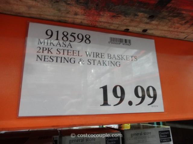 Mikasa Stacking Storage Baskets Costco 1