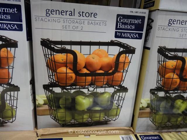 Mikasa Stacking Storage Baskets