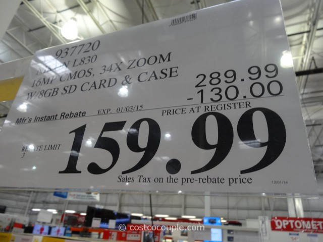 Nikon Coolpix L830 Costco 1