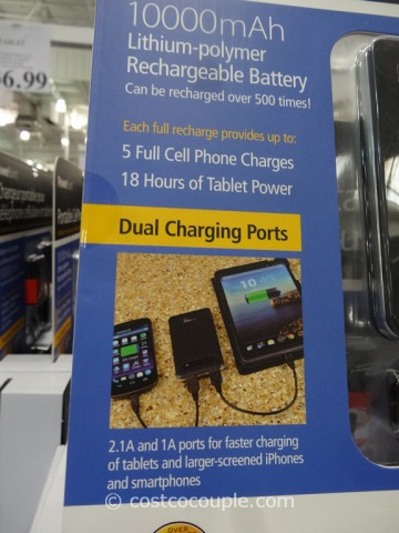 Royal Portable Cell Phone and Tablet Charger Costco 3