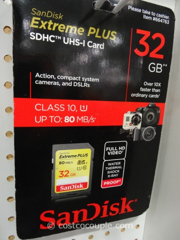 Sandisk Extreme Plus 32GB SDHC Card Costco 2