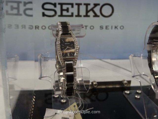 Seiko Solar Ladies Stainless Steel Ceramic Crystal Watch Costco 3
