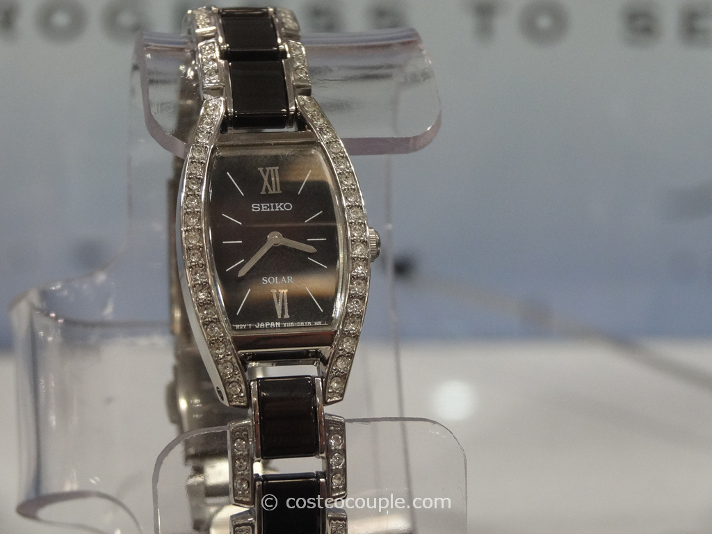 Seiko Solar Ladies Stainless Steel Ceramic Crystal Watch Costco 4