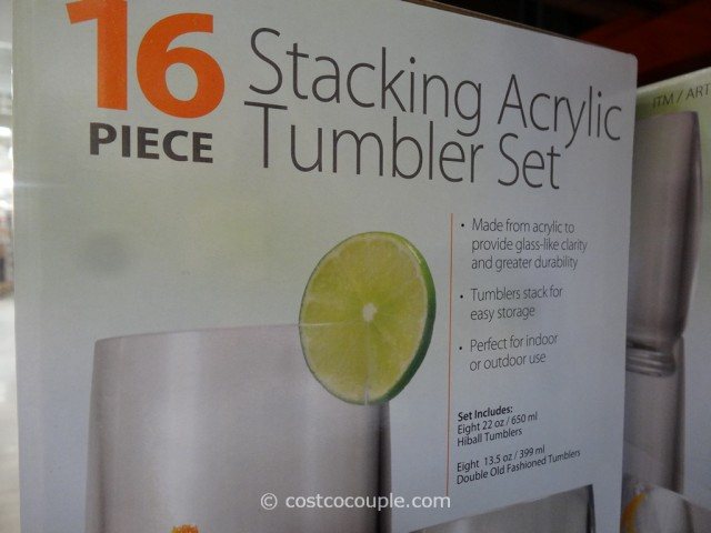 16 Piece Stacking Acrylic Tumbler