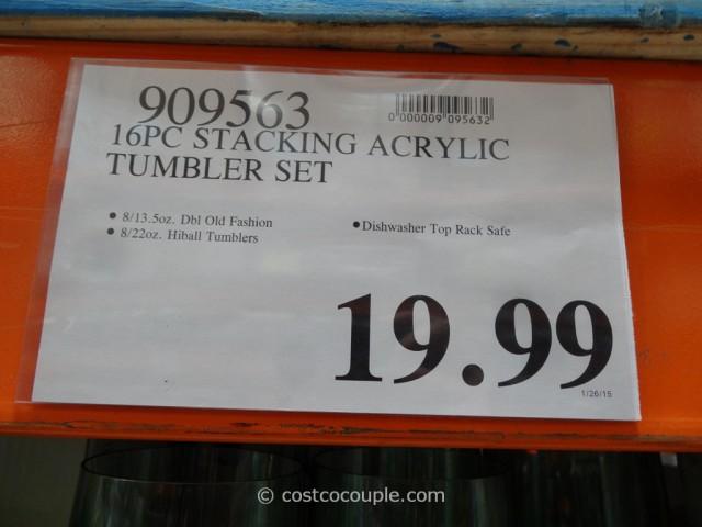 16-Piece Stacking Acrylic Tumbler Set Costco 5