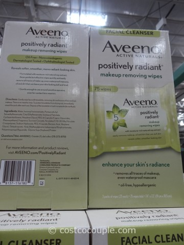 Aveeno Positively Radiant Makeup Removing Wipes Costco 2