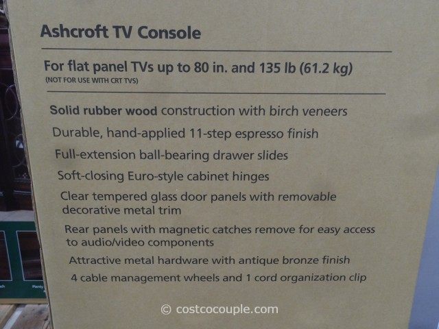 Bayside Furnishings Ashcroft TV Console Costco 5