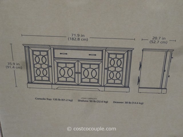 Bayside Furnishings Ashcroft TV Console Costco 6