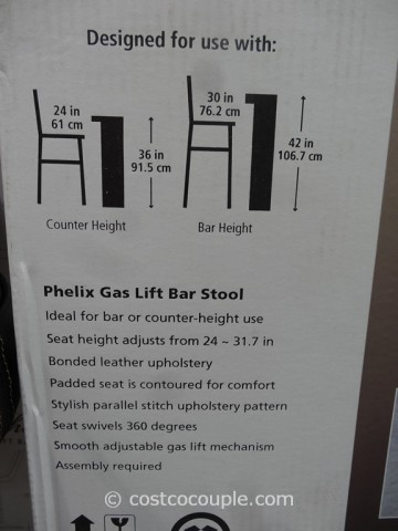 Bayside Furnishings Phelix Adjustable Barstool