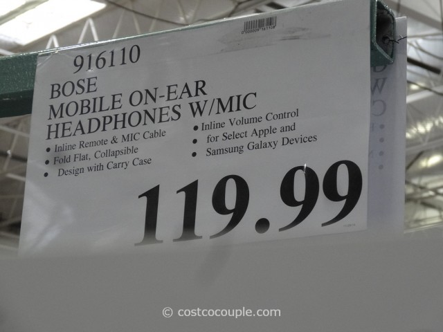 Bose Mobile On-Ear Headphones Costco 1