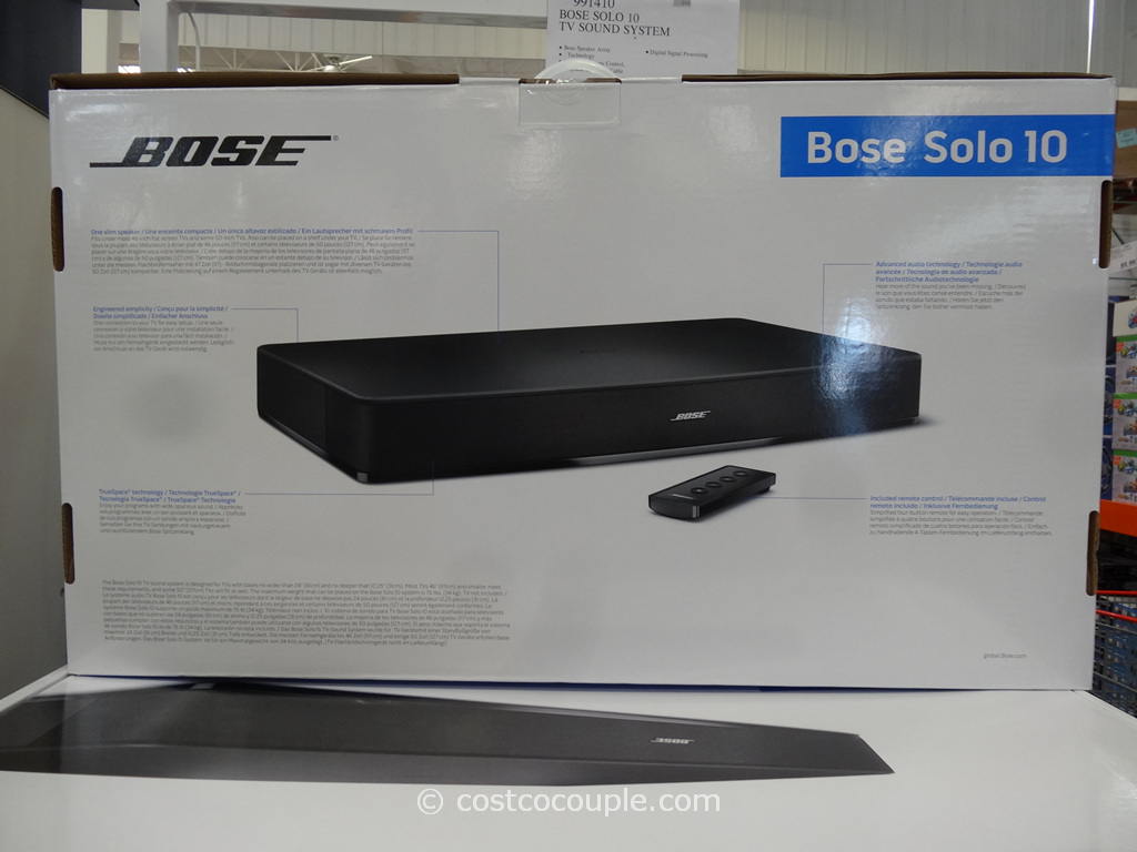 Bose Solo 10 TV Sound System Costco 1