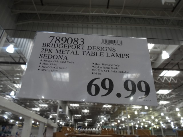 Bridgeport Designs Metal Table Lamp Set Costco 1