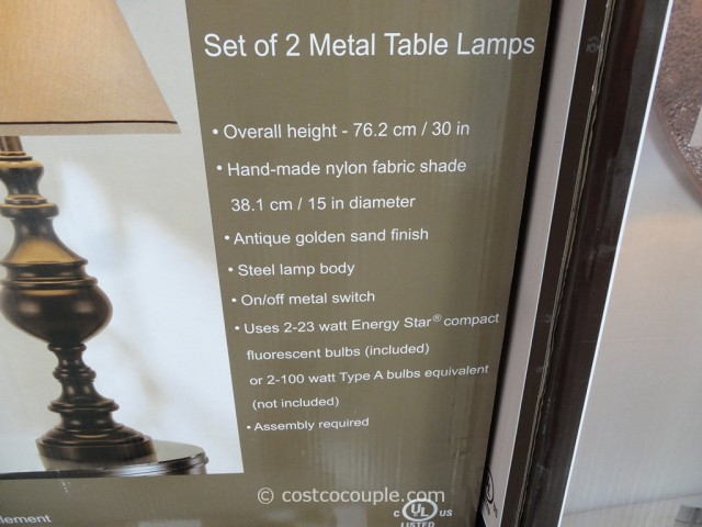 Bridgeport Designs Metal Table Lamp Set
