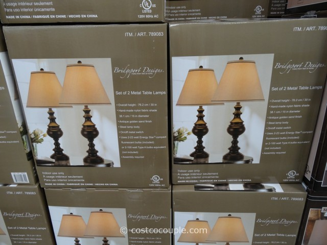 Bridgeport Designs Metal Table Lamp Set Costco 3 - Bridgeport Designs Metal Table Lamp Set