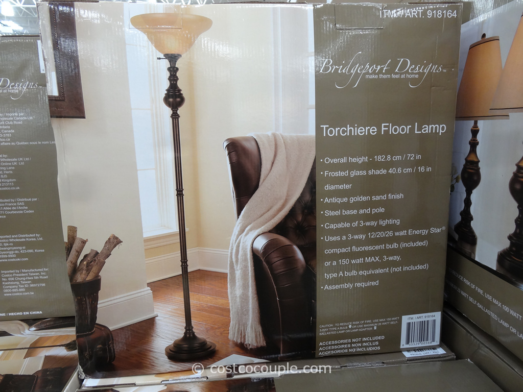 Bridgeport Torchiere Floor Lamp Costco 3