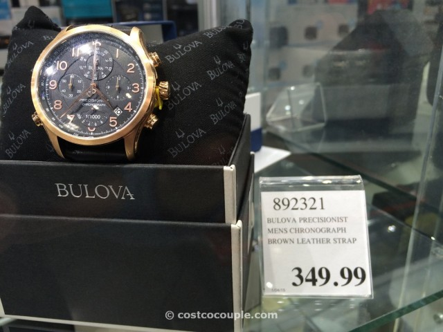 Bulova Precisionist Men S Chronograph Brown Leather Strap