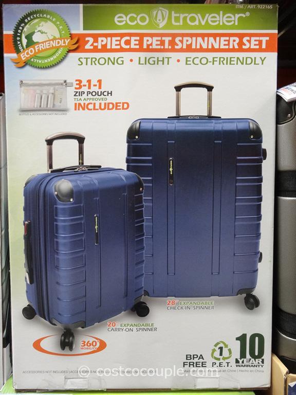 Eco Traveler 2-Piece Spinner Set Costco 1