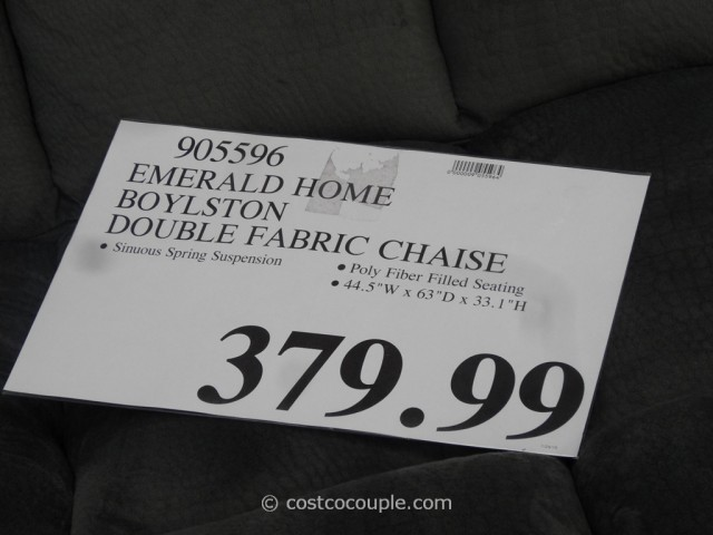 Emerald Home Boylston Double Fabric Chaise Costco 1