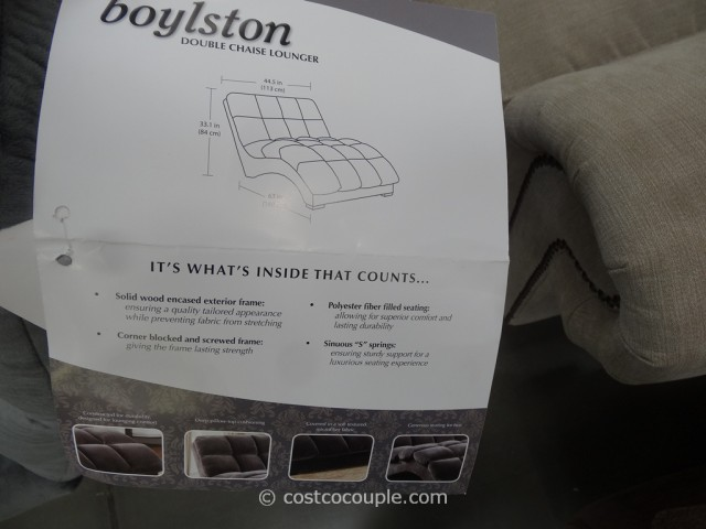 Emerald Home Boylston Double Fabric Chaise Costco 4
