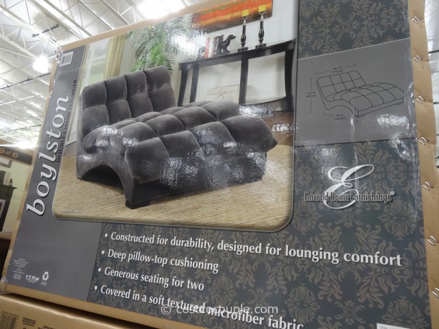 Emerald Home Boylston Double Fabric Chaise Costco 5