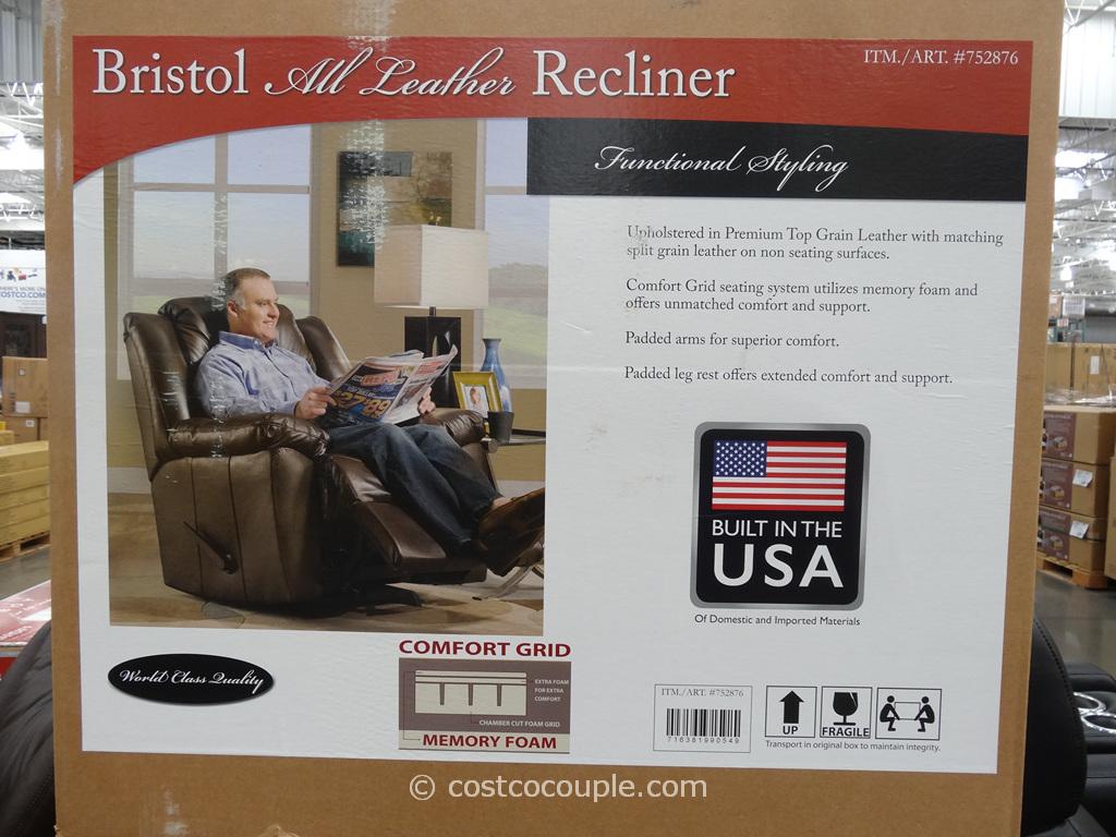 Franklin Bristol Leather Recliner Costco 2