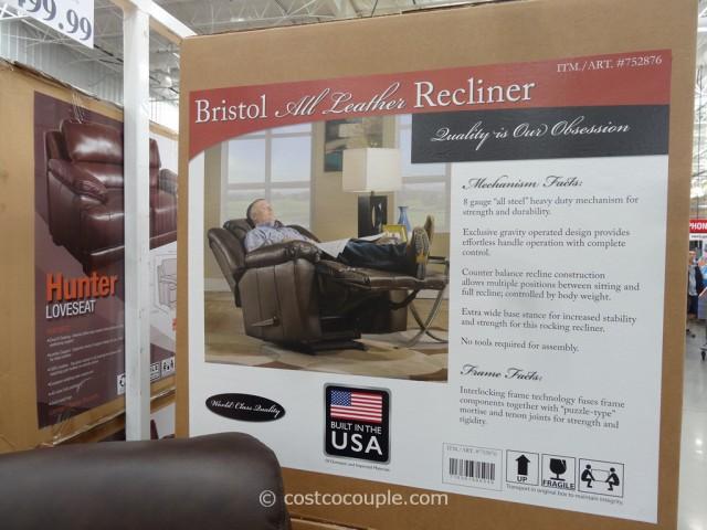 Franklin Bristol Leather Recliner Costco 3