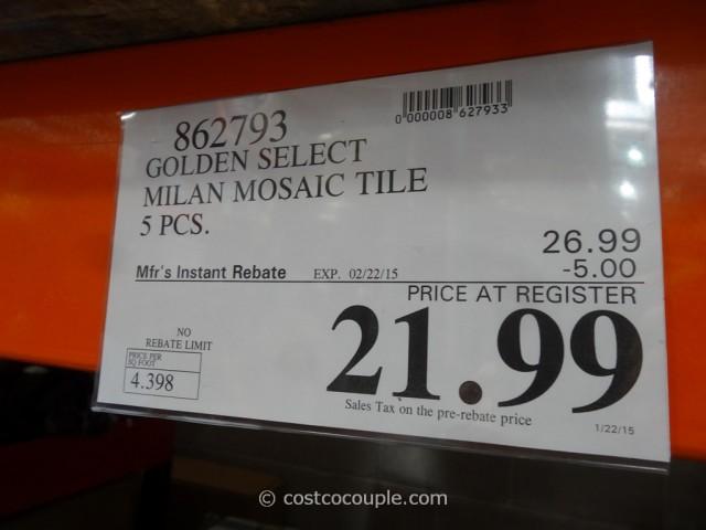 Golden Select Milan Mosaic Tile Costco 1