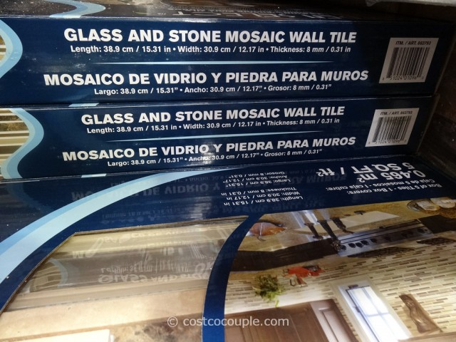 Glass And Stone Mosaic Wall Tile Costco Costco Deal