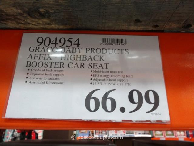 Graco Affix HIghback Booster Car Seat Costco 3
