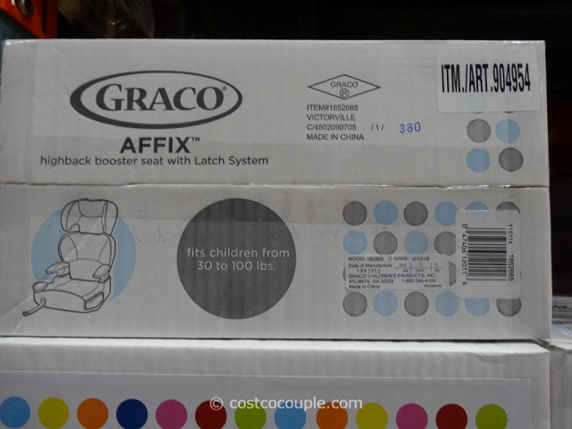 Graco Affix HIghback Booster Car Seat Costco 5
