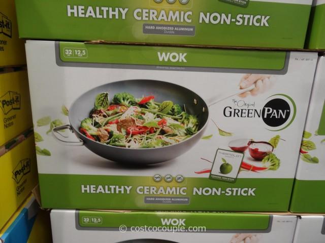GreenPan Ceramic Non-Stick Wok Costco 6