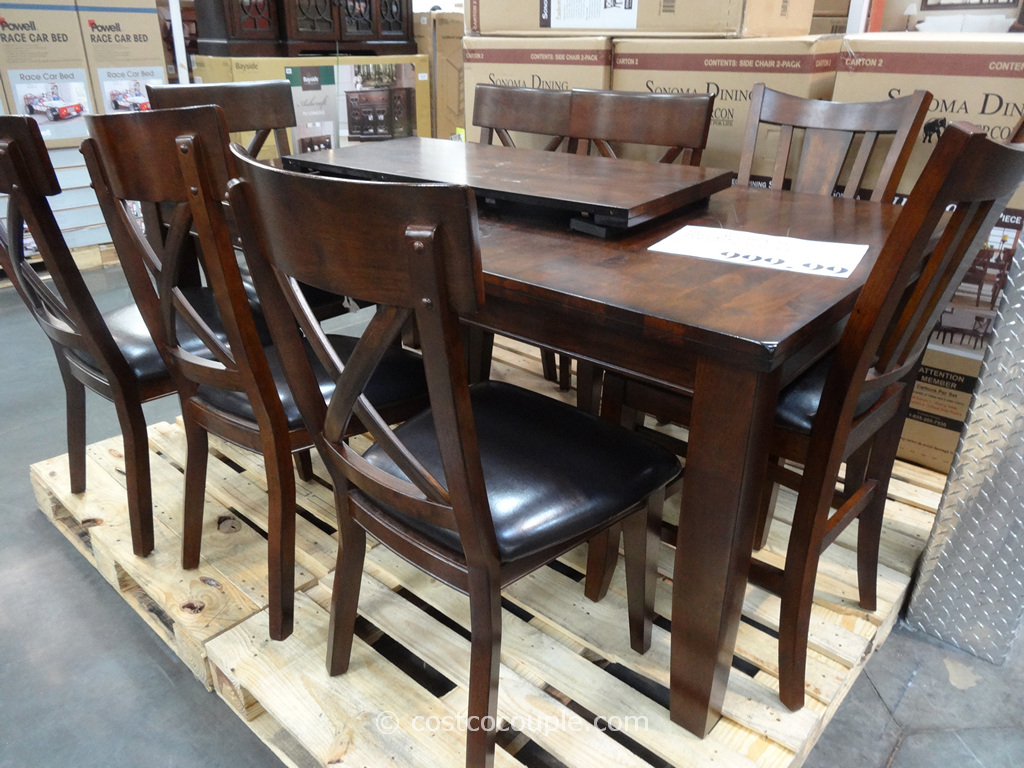 Costco Counter Height Dining Set Images Top Grain Leather  : Heritage Brands Sonoma Dining Set Costco 2 from favefaves.com size 1024 x 768 jpeg 380kB
