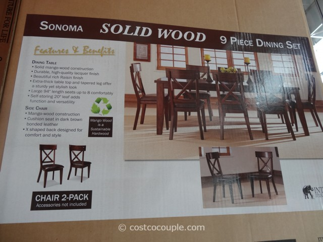 heritage brands sonoma dining set costco 4