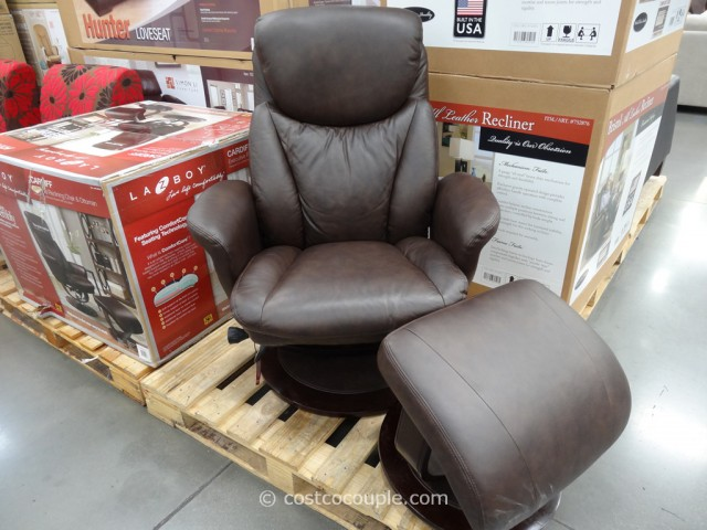 La-Z-Boy Leather Recliner Set Costco 3