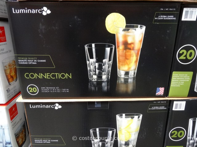 Luminarc 20-Piece Connection Beverage Set Costco 1