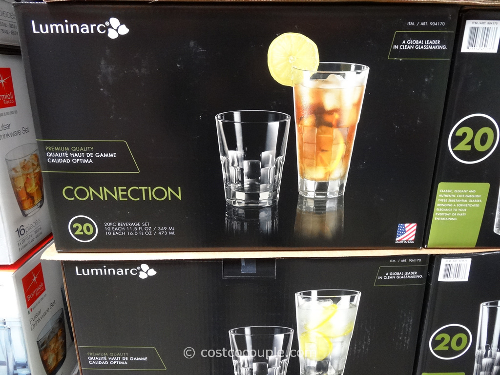 Luminarc 20-Piece Connection Beverage Set Costco 1