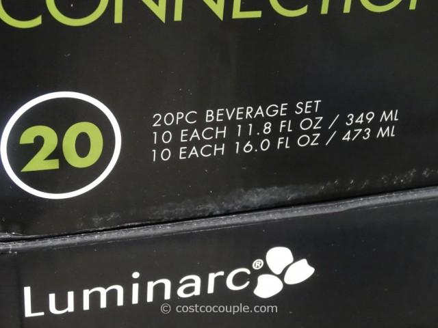 Luminarc 20-Piece Connection Beverage Set Costco 4