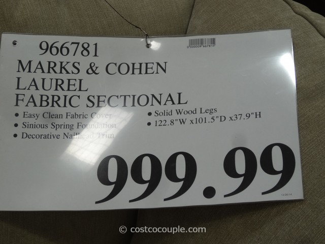 Marks and Cohen Laurel Fabric Sectional Costco 1
